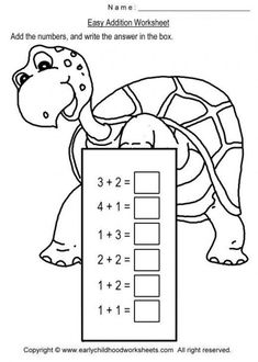 Easy Simple Turtle Addition For Kindergarten – Best Worksheets Collection Activities For 1st Graders, 1st Grade Math Worksheets, Kindergarten Math Worksheets, Preschool Math, Math Classroom, Kindergarten Worksheets, Worksheets For Kids, Math Activities, Addition Worksheets