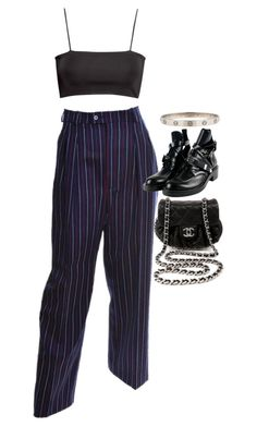 """Untitled #2631"" by hiitsbre ❤ liked on Polyvore featuring H&M, Yves Saint Laurent, Balenciaga and Chanel"