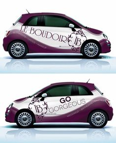 Luxurious car wrap for mobile beauty services by BlackpointMD Signage Design, Flyer Design, Logo Design, Vehicle Signage, Mobile Logo, Mobile Beauty, Driving School, Car Wrap, Business Design