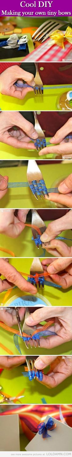 Cool life hacks: Ridiculously tiny bows.