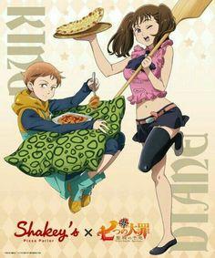 nanatsu no taizai diane (nanatsu no taizai) king (nanatsu no taizai) thighhighs Anime Cupples, Anime Angel, Anime Comics, Seven Deadly Sins Anime, 7 Deadly Sins, I Love Anime, Me Me Me Anime, Seven Deady Sins, 7 Sins
