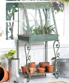 Look at this Antique Verdi Green Standing Terrarium on #zulily today!