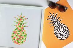 DIY Painted Pineapple Print