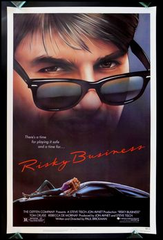Risky Business 1sh Original Movie Poster CineMasterpieces Tom Cruise 1983   eBay