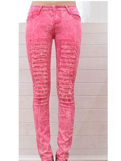 Korean style random dyeing Pencil jeans Skinny Jeans Style, Cheap Jeans, Korean Style, Korean Fashion, Fashion Beauty, Pencil, Sewing, Random, Pants