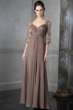 Wholesale Cheap Intriguing Sweetheart Neckline Ruffle Column Applique Chiffon Floor Length Mother Of Brides Dress