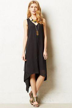 Sleeveless Swing Dress #anthropologie