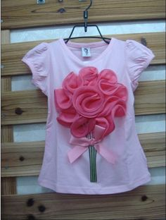 Pretty flower t-shirt. Pink. Sizes 2 - 7 years. £12 including UK delivery.  www.facebook.com/DiddyDarlings1