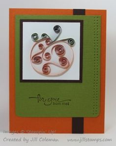 Paper Quilling Pumpkin For You Card