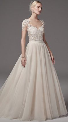 Courtesy of Sottero and Midgley Wedding Dresses from Maggie Sottero; Wedding dress idea.