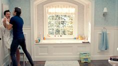 """Screen dump from the movie """"the change up"""". Couldn't find a better pic lol. LOVE the built in bath under the window."""
