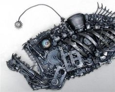 Angler Fish Sculpture
