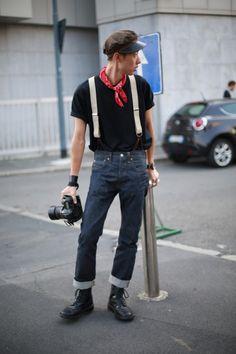 Suspenders, street style