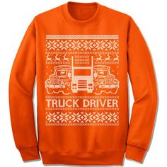 Truck Driver Ugly Christmas Sweater.