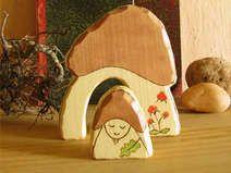Pilz ElfeHaus und klein Elf - Waldorf Inspiriert