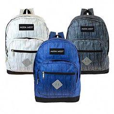 43ffaa35da Amazing offer on Moda West 17 Wholesale Backpack 3 Assorted Space Dye Colors  - Bulk Case 24 Bookbags online - Allfashiondress