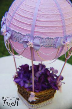 Rosa und Lavendel Heißluft-Ballon-Herzstück / / Bridal Dusche