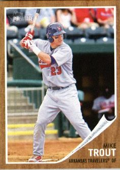 2011 Topps Heritage Minors #44 Mike Trout - Arkansas Travelers / Angels (Prospect / Rookie Card) (Baseball Cards) by Topps Heritage Minors. $7.59. 2011 Topps Heritage Minors #44 Mike Trout - Arkansas Travelers / Angels (Prospect / Rookie Card) (Baseball Cards)