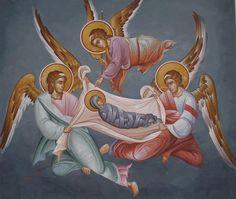 Άγγελοι ___ ( Whispers of an Immortalist: Icons of Holy Angels 2 Religious Images, Religious Icons, Religious Art, Byzantine Icons, Byzantine Art, Religious Paintings, Sacred Art, Oeuvre D'art, Painting Inspiration