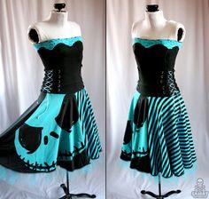 Nightmare Before Christmas pumpkin king corset dress - handmade custom size - smarmyclothes. via Etsy.