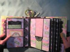 Waterfall Scrapbook Mini Album. Room for a ton of pictures.