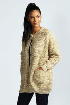 Samantha Metallic Textured Coatigan at boohoo.com $65