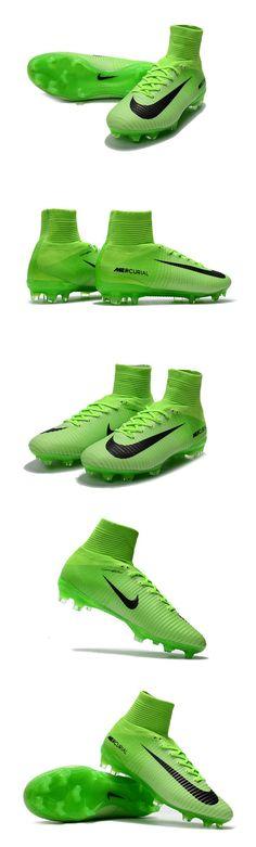 best service 82ee8 e04ae Vert Nike Mercurial Superfly 5 Col Dynamic Fit avec nervures intégrées  augmentant la sensibilité et le