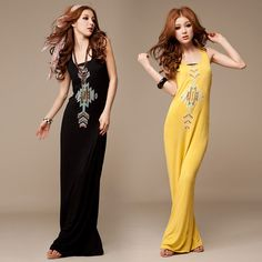 Sexy Women Ladies Girls Cotton Slim Floral Boho Summer Maxi Long Dress Skirts #other