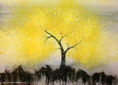 Resultado de imagem para lua amarela tumblr