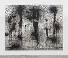 rashid johnson, rumble (2011). mirrored tile, black soap, wax, paint = cool art.