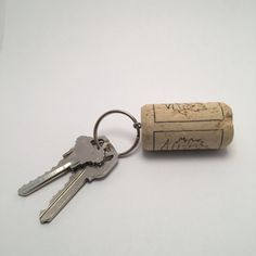 Wine Cork Keychain by CreativelyTaylord on Etsy