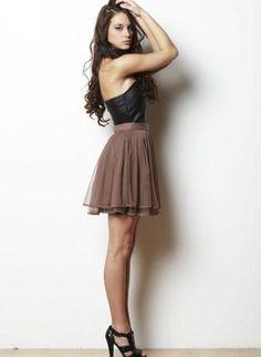 Brown Ballerina Skirt with Tiered Tulle,  Skirt, tutu skirt  tulle, Chic