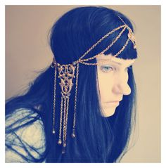 Art Nouveau headdress in Brass and gold. Sold out 2/15/13