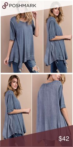 Spotted while shopping on Poshmark: Indigo Asymmetric Tunic Top! #poshmark #fashion #shopping #style #B Chic Boutique #Tops