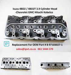Isuzu 4BD2 / 4BD2T 3.9 Cylinder Head - Chevrolet GMC Hitachi Kobelco. International Parts & Vehicle Technologies sales@ipvt.co.za Mobile: 061 5444 370 Suitable For Engine Model: 4BD2T/4BD2-T OEM No.: 8971030272 8971030273 8971014640 8942568531 ISUZU 4BA1 5-11110238-0 5-11110231-0 4BD1 11110238-0 8971418211 8971418212 8971418210  4BD1T  4BD2T 8971030272 4BG1 4EE1 5607060  4EE1-T 607044 5607008 5607038 AMC908028 4G24 (=TOYOTA 2RZ)  #Isuzu #Chevrolet #Hitachi #Internationalparts #IPVT #TSAon3 Cylinder Head, Oem Parts, Chevrolet, Toyota, Engineering, Technology, Vehicles, Cars, Mechanical Engineering