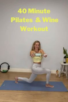 Full body 40minute pilates workout. Workout now so we can wine later 😁 Grab 2 wine bottles, water bottles or light weights for this workout. Wine from @mindandbodywines Leggings by @liquidskysports #homebodies #healthywine #fitwine #athletafitpro #pilatesmat #pilatespower #powerpilates #pilateswithprops #pilatesclass #pilatesonline #pilatesbody #pilateslover #pilateslovers #pilateslove #matpilates #wineworkout #fitgirls #liveworkouts #weightloss #calorieburn #fitnessmotivation #wine…