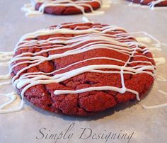 Simply Designing with Ashley: Red Velvet Cheesecake Cookies
