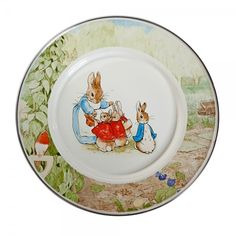 Peter Rabbit Child Plate #peterrabbit #plate #tweed #baby #homedecor