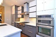 Ikea handleless Abstrakt grey and white kitchen - contemporary - kitchen - toronto - TS KITCHEN PROJECTS