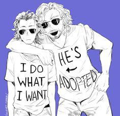 teen Loki and Thor << I want this comic. Thor and Loki growing up in the seventies. Loki's kind of a punk who's always getting in trouble and Thor's the big football star hero. But they're like best friends.