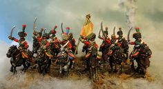 French chasseurs a cheval de la garde Painted by Francesco Thau and sculpted and modified by Franco Saudelli