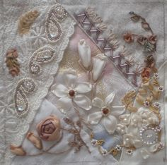 I ❤ crazy quilting, beading & ribbon embroidery . . . CQI Tone on Tone DYB RR - Candji's block ~By dianesm