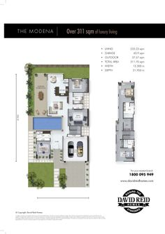 The Modena Floor Plan - Concept Range. David Reid Homes Australia, Luxury Custom Home Builder.