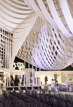 Paper Space installation by Studio Glowacka + Maria Fulford Architects for 100% Design 2013
