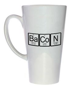 bacon mug periodic table chemistry elements latte size - Periodic Table Mug Australia