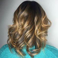 Dark Brown Hair With Golden Blonde Balayage  | visit 40plusstyle.com for more great style!