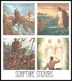 Printable Scripture stickers