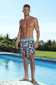 Cancun Floral Shorts worn by Gaz Beadle in MTV's Ex On Beach | Shop the collection at thomasroyall.com