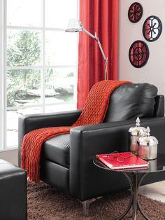 Moderno / Sala / Descanso / Decoración / Confort / Relax / Moda / Etiqueta / Rojo