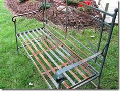 #redo wrought iron bench redo  http://www.craftsalamode.com/